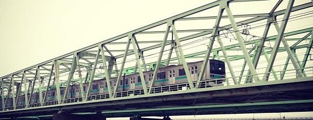 常磐線 江戸川橋梁 is one of สถานที่ที่ Kazu ถูกใจ.