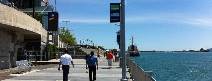 Detroit RiverWalk is one of Road Trip.