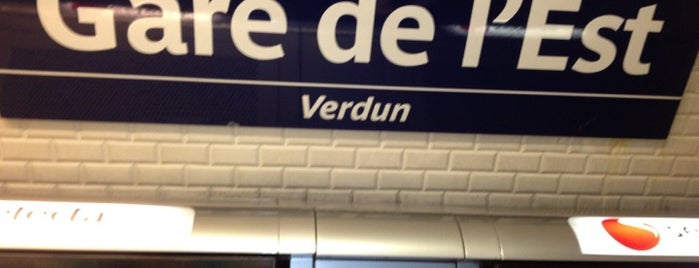 Métro Gare de l'Est [4,5,7] is one of Friedrichさんのお気に入りスポット.