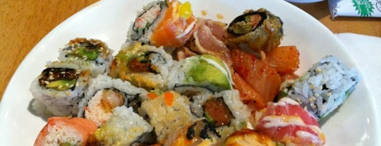 Tomi Sushi & Seafood Buffet is one of สถานที่ที่ Vu ถูกใจ.