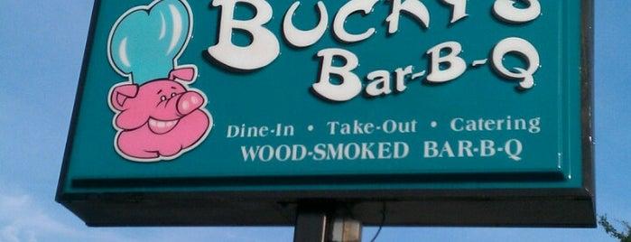 Bucky's Bar BQ Express is one of Greenville Food.