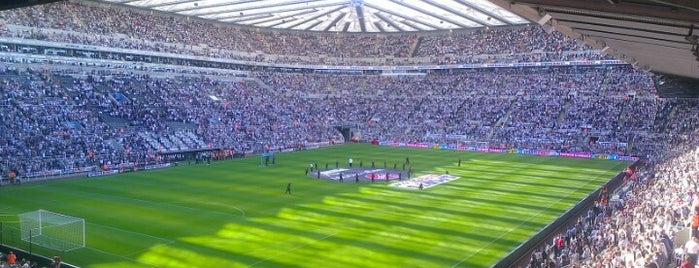 St James' Park is one of Stadiums I've watched sport at.