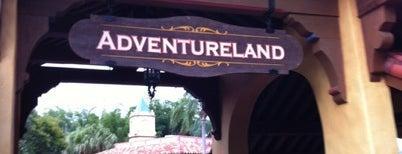 Adventureland is one of Walt Disney World.