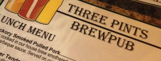 Three Pints Brewpub is one of Inclusive Indiana Craft Beer Guide.