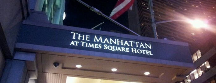 The Manhattan at Times Square Hotel is one of nyc - outdoor wine/dine.