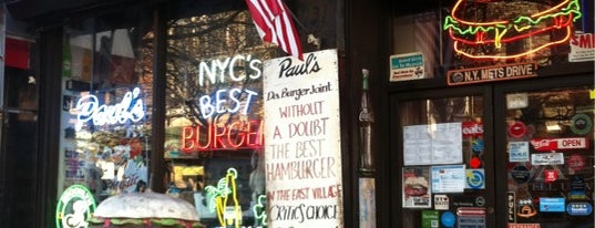 "Paul's ""Da Burger Joint"" is one of NYC Burgers."