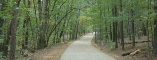 Stone Mountain Park on The Cherokee Trail is one of สถานที่ที่ Brad ถูกใจ.