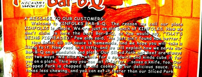 Kinfolks Bar-B-Q is one of WORST FOOD IN North West FLORIDA!!!.