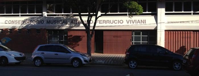 Conservatório Musical Antônio Ferrucio Viviani is one of Margarida 님이 저장한 장소.