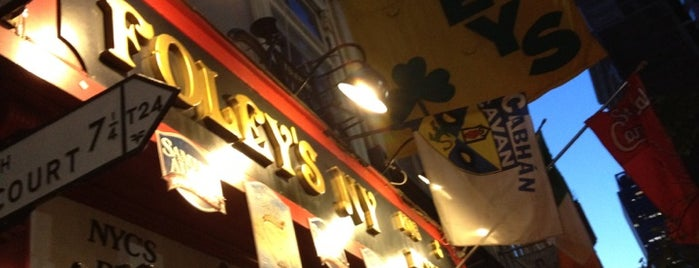 Foley's NY Pub & Restaurant is one of USA NYC Favorite Bars.