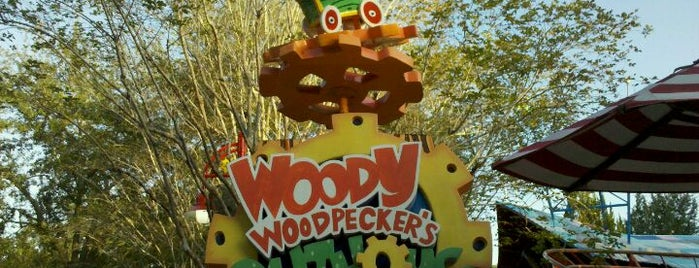 Woody Woodpecker's Nuthouse Coaster is one of My vacation @Orlando.