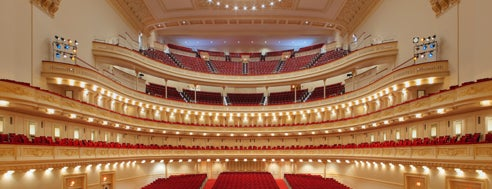 Carnegie Hall is one of New York, NY.