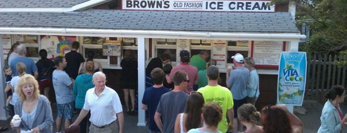 Brown's Old Fashioned Ice Cream is one of Adventures in Dining: USA!.