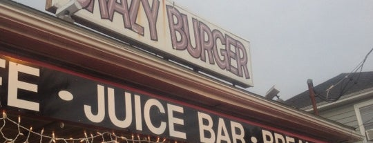 Crazy Burger Cafe & Juice Bar is one of PVD + other RI.