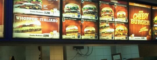 Burger King is one of Burgers.cl.