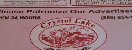 Crystal Lake Diner is one of New Jersey Diners.