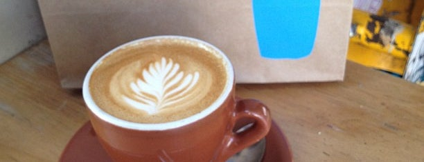 Blue Bottle Coffee is one of SF cafes.