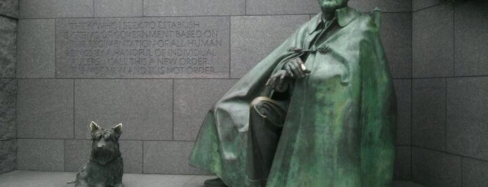 Franklin Delano Roosevelt Memorial is one of Washington D.C..