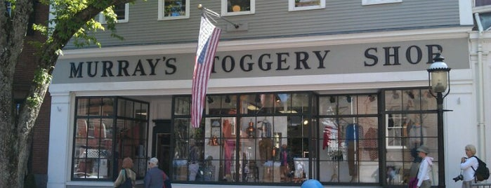 Murrays Toggery Shop is one of Places where men wear salmon-colored pants.