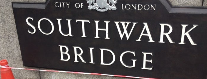 Southwark Bridge is one of UK14.