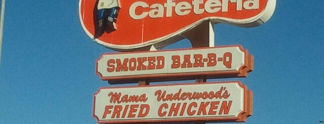 Underwood's Cafeteria is one of Texas Highways Top Mom & Pop Stops.