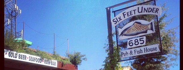 Six Feet Under Pub & Fish House is one of Where to Eat in Atlanta.