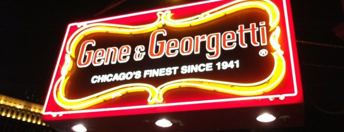 Gene & Georgetti is one of Nikkia J 님이 저장한 장소.