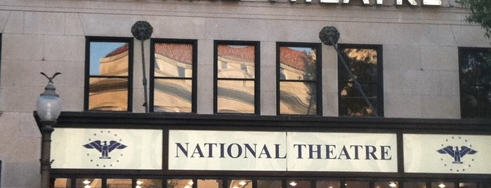 "The National Theatre is one of ""Hail, Columbia, happy land...""."