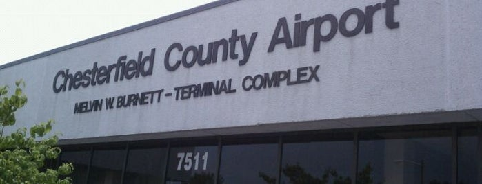 Chesterfield County Airport (FCI) is one of Airports.