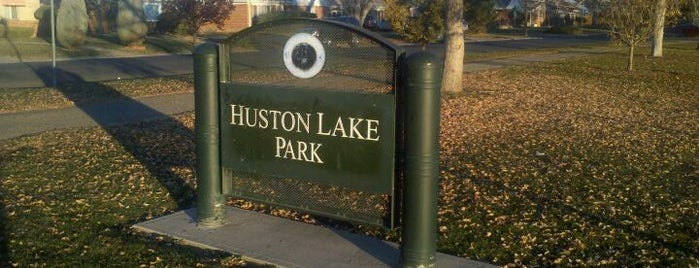 Huston Lake Park is one of places to go.