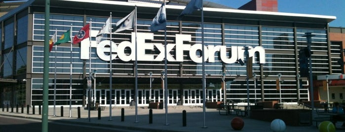 FedExForum is one of sports arenas and stadiums.