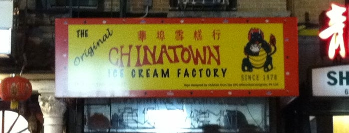The Original Chinatown Ice Cream Factory is one of Restaurants for Peter.