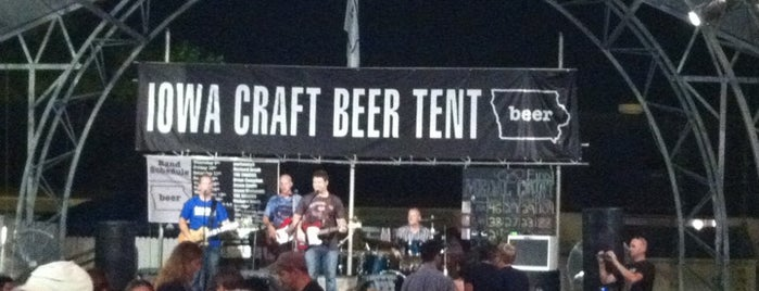 Iowa Craft Beer Tent is one of Tempat yang Disukai Dee.