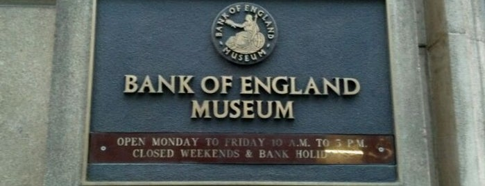 Bank of England Museum is one of Inglaterra.