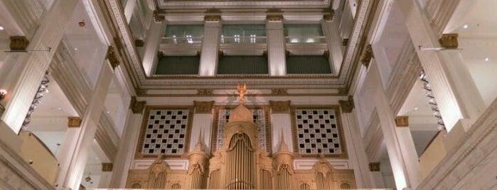 The Wanamaker Organ is one of Philadelphia.