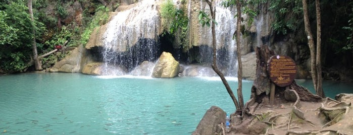 Erawan Waterfall is one of farsai's Liked Places.