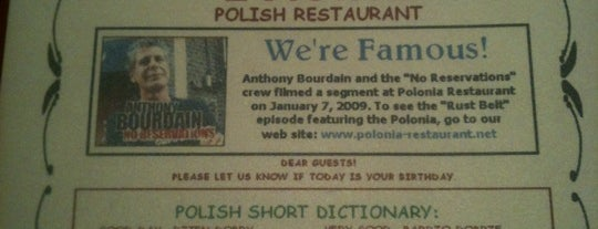 Polonia Restaurant is one of Detroit + Ann Arbor.