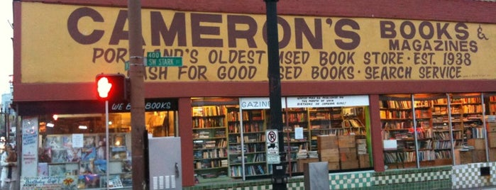 Cameron's Books is one of Portland Signs.