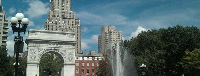 Washington Square Park is one of David's New York favourites.