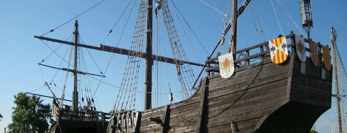 Muelle de Las Carabelas is one of Ships (historical, sailing, original or replica).