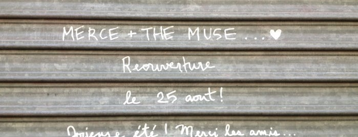 Merce and the Muse is one of Paris // Tea, Cake, Coffee & More.