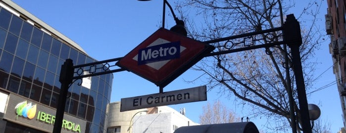 Metro El Carmen is one of Mundo madrileño.