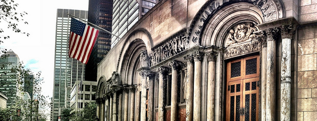 St. Bartholomew's Church is one of 101 places to see in Manhattan before you die.