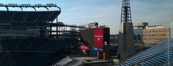 Gillette Stadium is one of Stadiums.