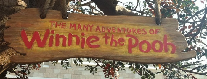 The Many Adventures of Winnie the Pooh is one of Lieux qui ont plu à Drew.