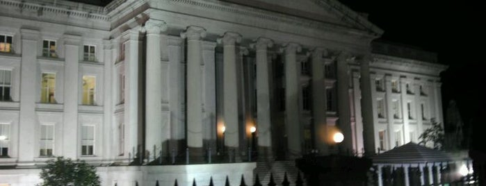 US Department of the Treasury is one of Places that are checked off my Bucket List!.