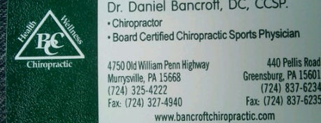 Bancroft Chiropractic Center is one of My places.