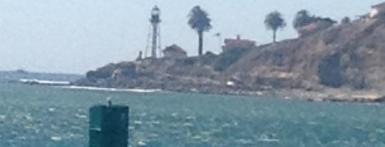 New Pt Loma Light House from bay is one of San Diego.