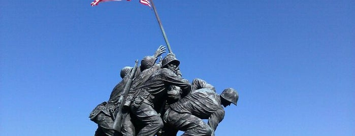 US Marine Corps War Memorial (Iwo Jima) is one of Famous Statues Around the World.