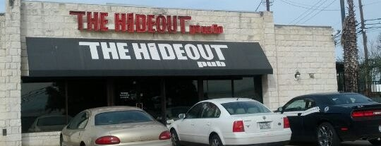 Hideout Pub is one of Austin Happy Hr Places.